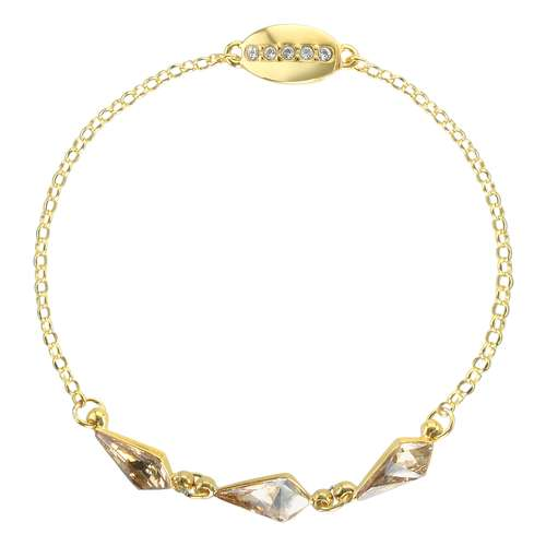 Bracciale Argento 925 Cristallo Swarovski Dorato