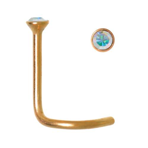 Nasenpiercing Chirurgenstahl 316L PVD Beschichtung (goldfarbig)