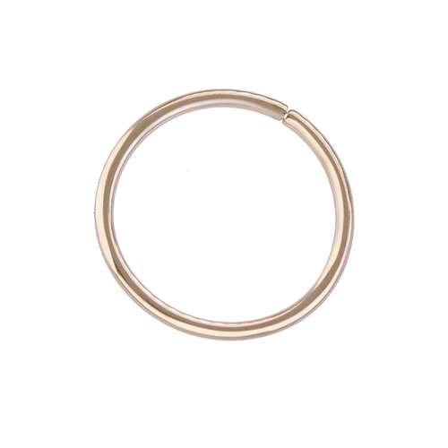 Neusring Chirurgisch staal 316L PVD laag (goudkleurig)