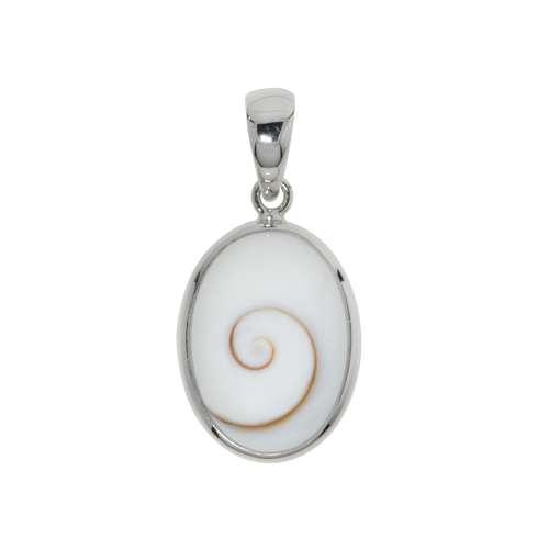 Muschel-Anhänger Shiva´s Eye Muschel Silber 925 Spirale