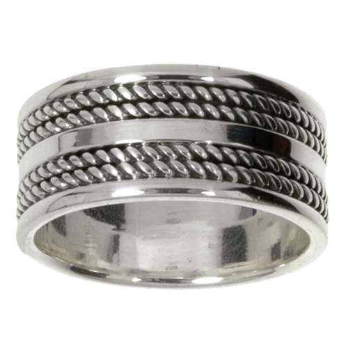 Fingerring Silber 925 Streifen Rillen Linien Tribal_Zeichnung Tribal_Muster