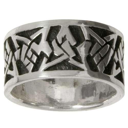 Bague de doigt Argent 925 Dessin_tribal Motif_tribal Triangle Étoile