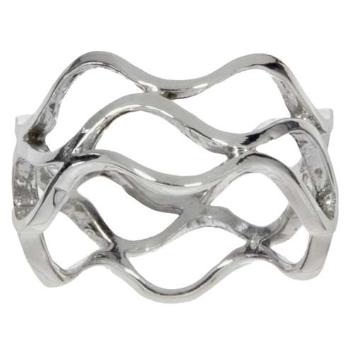 Fingerring Silver 925 Wave