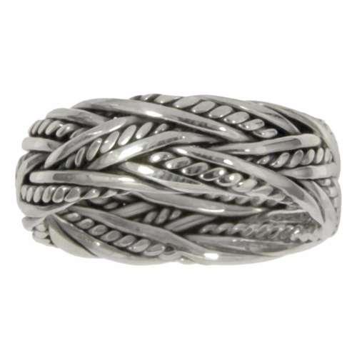 Fingerring Silber 925 Ewig Schlaufe Endlos Tribal_Zeichnung Tribal_Muster