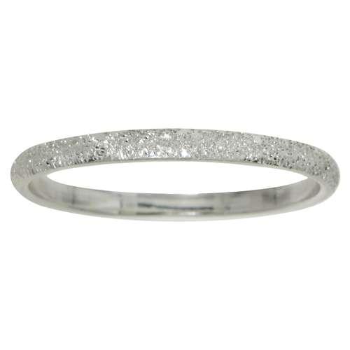 Anello Argento 925 Polvere di diamante Rivestimento di rutenio