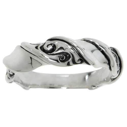 Fingerring Silber 925 Blatt Pflanzenmuster Florales_Muster