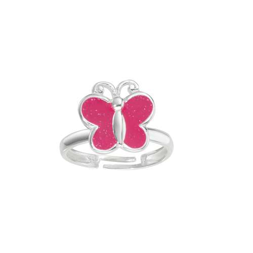 Kinder Ring Silber 925 Email Schmetterling Sommervogel