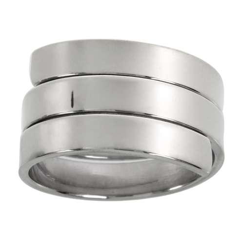 Fingerring Silber 925 Spirale Streifen Rillen Linien