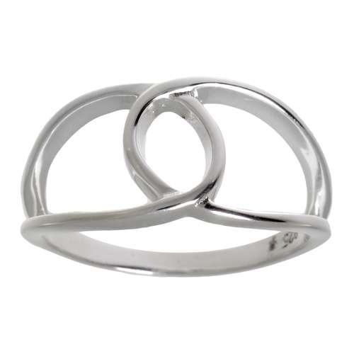 Fingerring Silber 925 Schleife Geschenkband Haarschlaufe Ewig Schlaufe Endlos