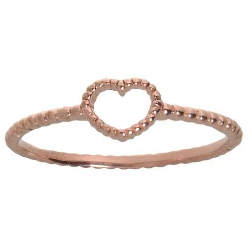Fingerring Silber 925 PVD Beschichtung (goldfarbig) Herz Liebe