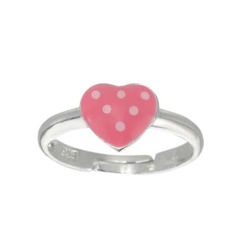 Kinder Ring Silber 925 Epoxiharz Herz Liebe