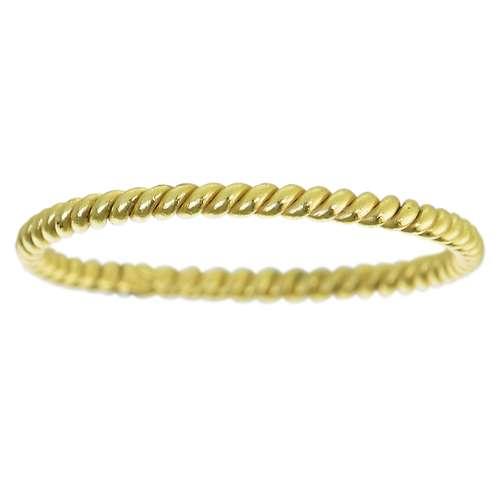 Fingerring Silber 925 Gold-Beschichtung (vergoldet) Ewig Schlaufe Endlos Spirale Streifen Rillen Linien