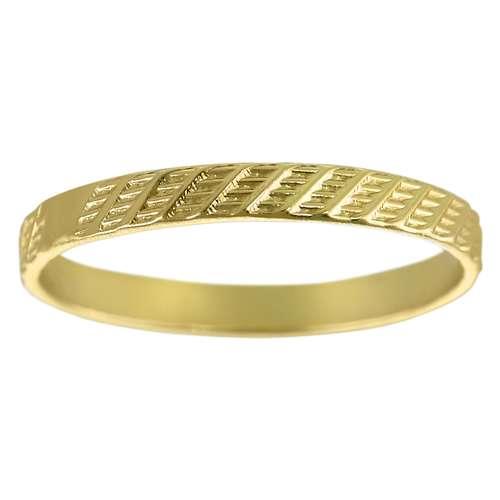 Fingerring Silber 925 Gold-Beschichtung (vergoldet) Streifen Rillen Linien