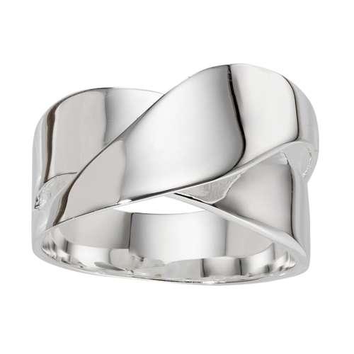Fingerring Silber 925 Welle
