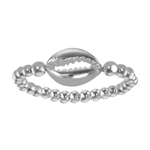 Fingerring Silber 925 Kunststoff Muschel