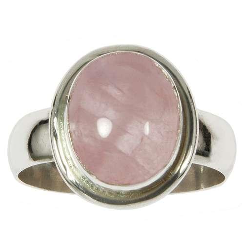 Anello Argento 925 Quarzo rosa