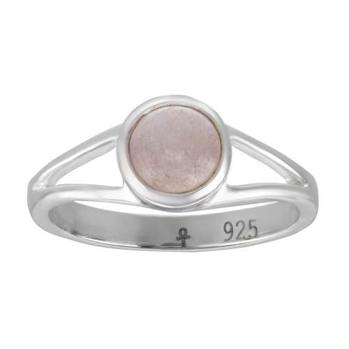 Anillo Plata 925 Cuarzo rosa