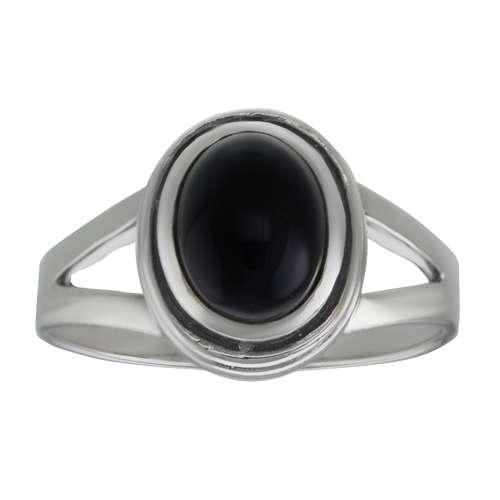 Fingerring Silber 925 Onyx