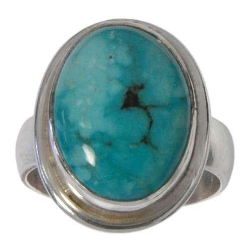 Bague de doigt Argent 925 Turquoise