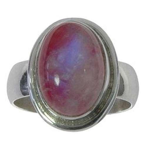 Fingerring Silber 925 Mondstein Pink