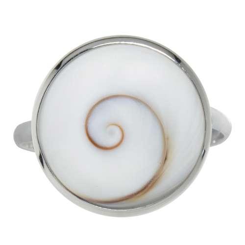 Silber Silber 925 Shiva´s Eye Muschel Spirale