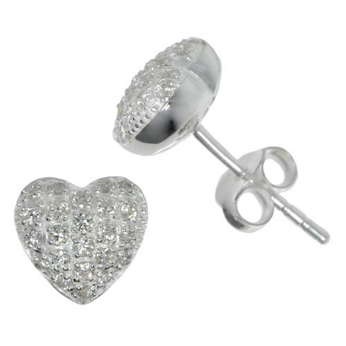 Ohrstecker Silber 925 Kristall Herz Liebe