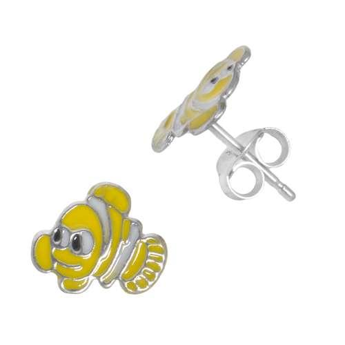 Kinder Ohrringe Silber 925 Email Fisch