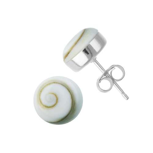 Ohrstecker Silber 925 Shiva´s Eye Muschel Spirale