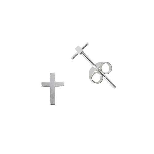 Ohrstecker Silber 925 Kreuz