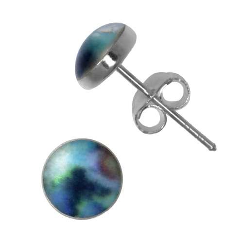 Ohrstecker Silber 925 Perlmutter Epoxiharz