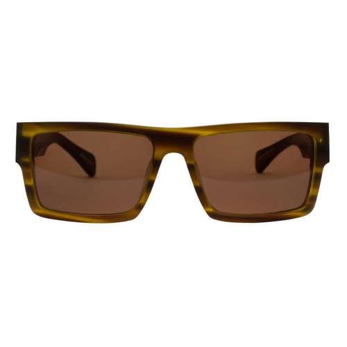 FILTRATE Sonnenbrille mit Kunststoff und Resin. Breite:14,1. Glasbreite:55mm. Glashöhe:37mm. Stegweite:18mm. Bügel-Länge:14,5cm. Gewicht:44g. Kunststoff Resin Tierfell Tiermuster Fellmuster Fell Animal_Print Zebra Leopard Tiger
