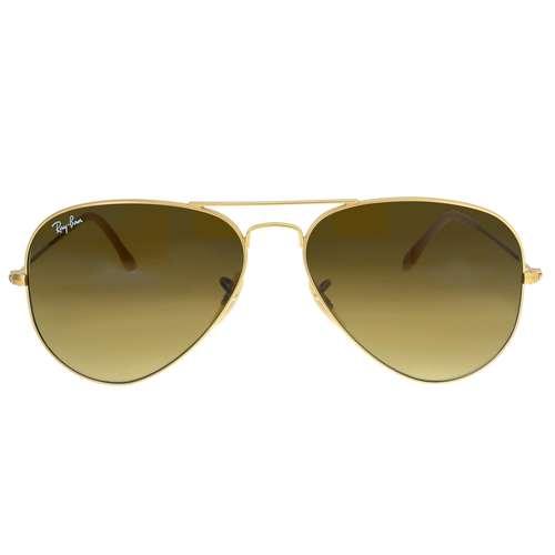 RAY BAN Sonnenbrille Messing Acrylglas Gold-Beschichtung (vergoldet)
