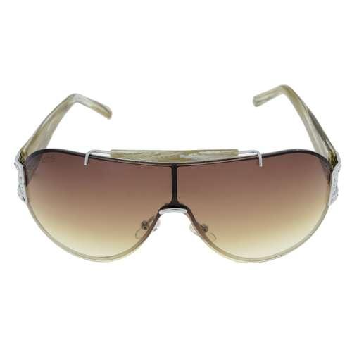 LANCASTER Sonnenbrille Metall Kunststoff Nylon Kristall Streifen Rillen Linien