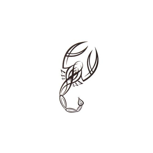Fake-Tattoo Skorpion Tribal_Zeichnung Tribal_Muster