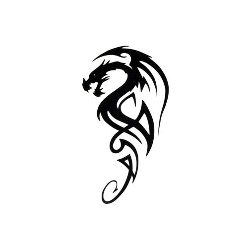 Fake-Tattoo Drache Tribal_Zeichnung Tribal_Muster