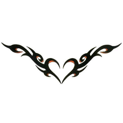 Fake-Tattoo Herz Liebe Tribal_Zeichnung Tribal_Muster
