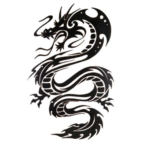 Fake-Tattoo Drache