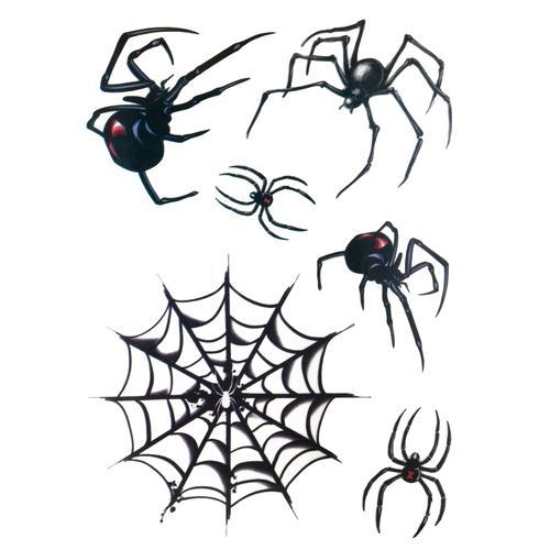 Fake-Tattoo Spinne Spinnennetz