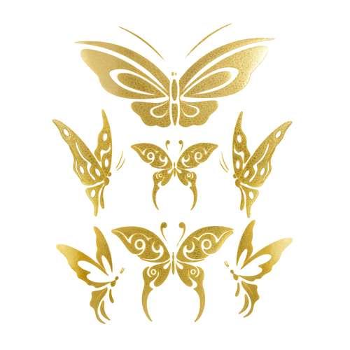 Fake-Tattoo Schmetterling Sommervogel