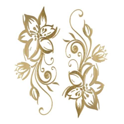 Fake-Tattoo Blume Blatt Pflanzenmuster Florales_Muster Tribal_Zeichnung Tribal_Muster