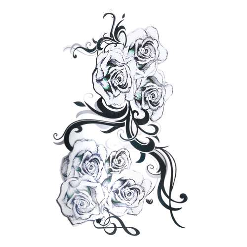 Fake-Tattoo Rose Tribal_Zeichnung Tribal_Muster