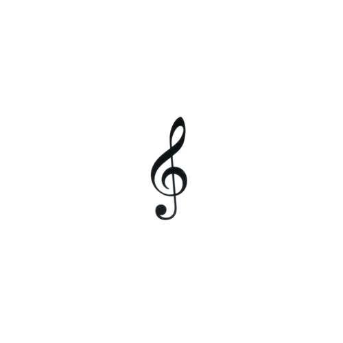 Kinder Fake Tattoo Musik Notenschlüssel Gitarre