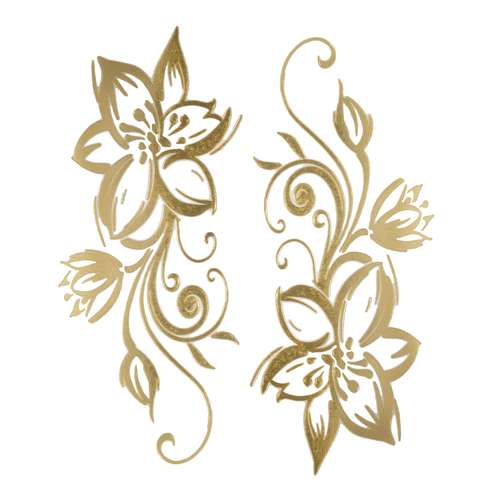 Kinder Fake Tattoo Blume Blatt Pflanzenmuster Florales_Muster