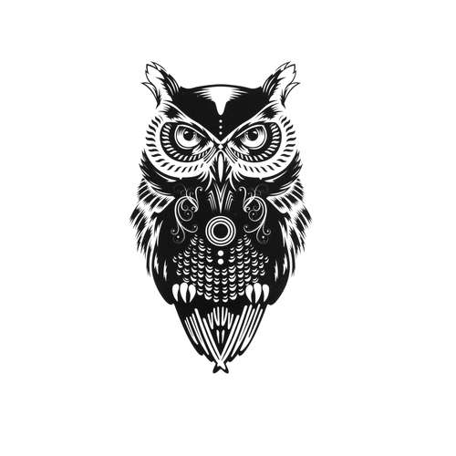 Fake-Tattoo Chouette Hibou Grand_duc