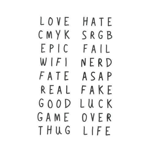 Fake-Tattoo Buchstabe Zahl Ziffer Love Liebe