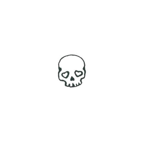 Fake-Tattoo Totenkopf Schädel Knochen