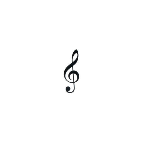 Fake-Tattoo Musik Notenschlüssel Gitarre