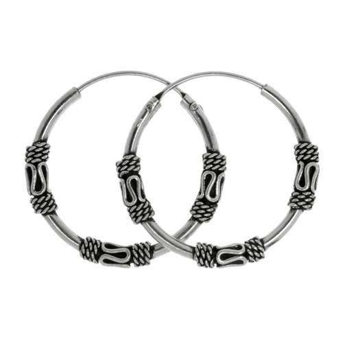 Creolen Silber 925 Tribal_Zeichnung Tribal_Muster