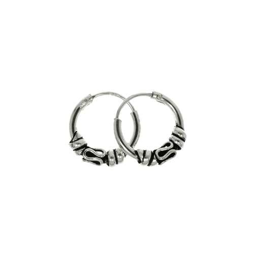 Creolen aus Silber 925. Durchmesser:12mm. Gewicht:1,2g. Silber 925 Tribal_Zeichnung Tribal_Muster