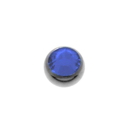 1.2mm Titan Piercingteil Titan Swarovski Kristall